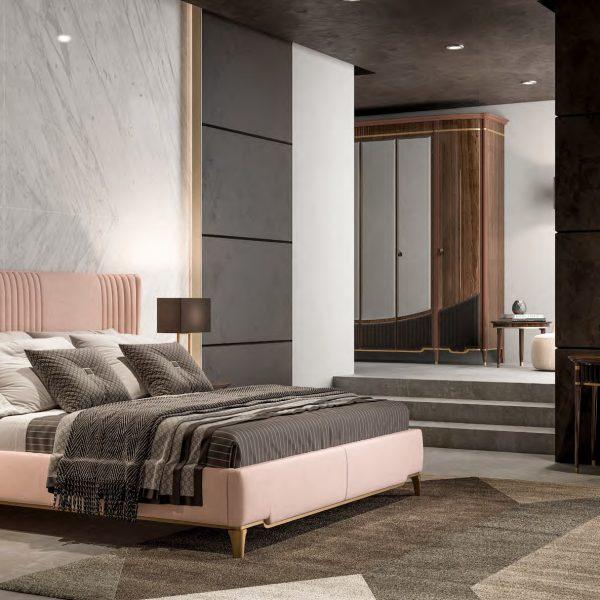 GHEZZANI-ARREDAMENTI-Collezione-NAVIGLI-NIGHT-GATTOPARDO-letto-bed-in-night-room-specchio-CRAIG-toilette-RIA-comodino-FLEMING-e-armadio-BOND