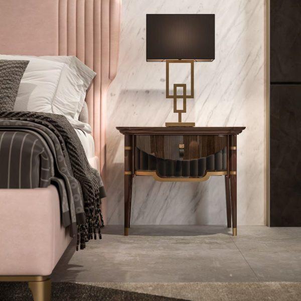GHEZZANI-ARREDAMENTI-Collezione-NAVIGLI-NIGHT-GATTOPARDO-letto-bed-particolare-con-comodino-FLEMING
