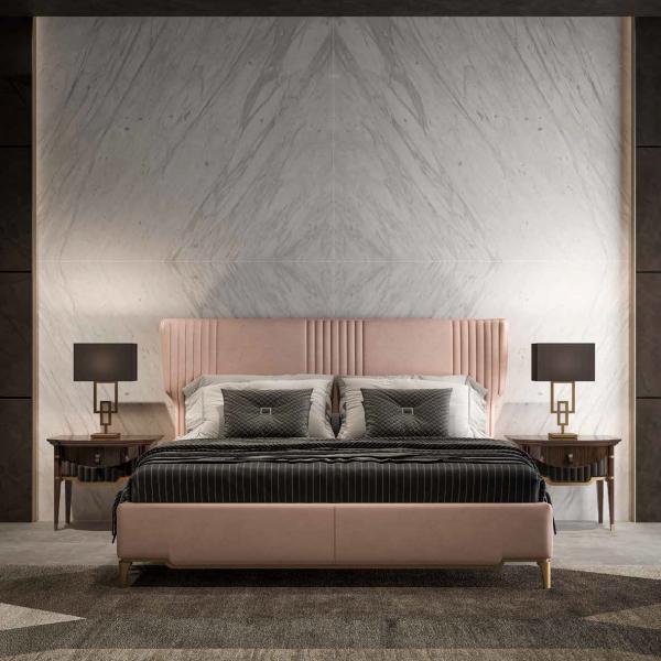 Letto linea rosa camera da letto - Navigli notte 14